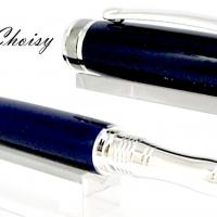 Roller serenite galalithe bleue foncee platine et titane 3