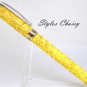 Roller serenite loupe d erable negundo stab jaune platine et titanium 1