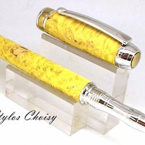 Roller serenite loupe d erable negundo stab jaune platine et titanium 3
