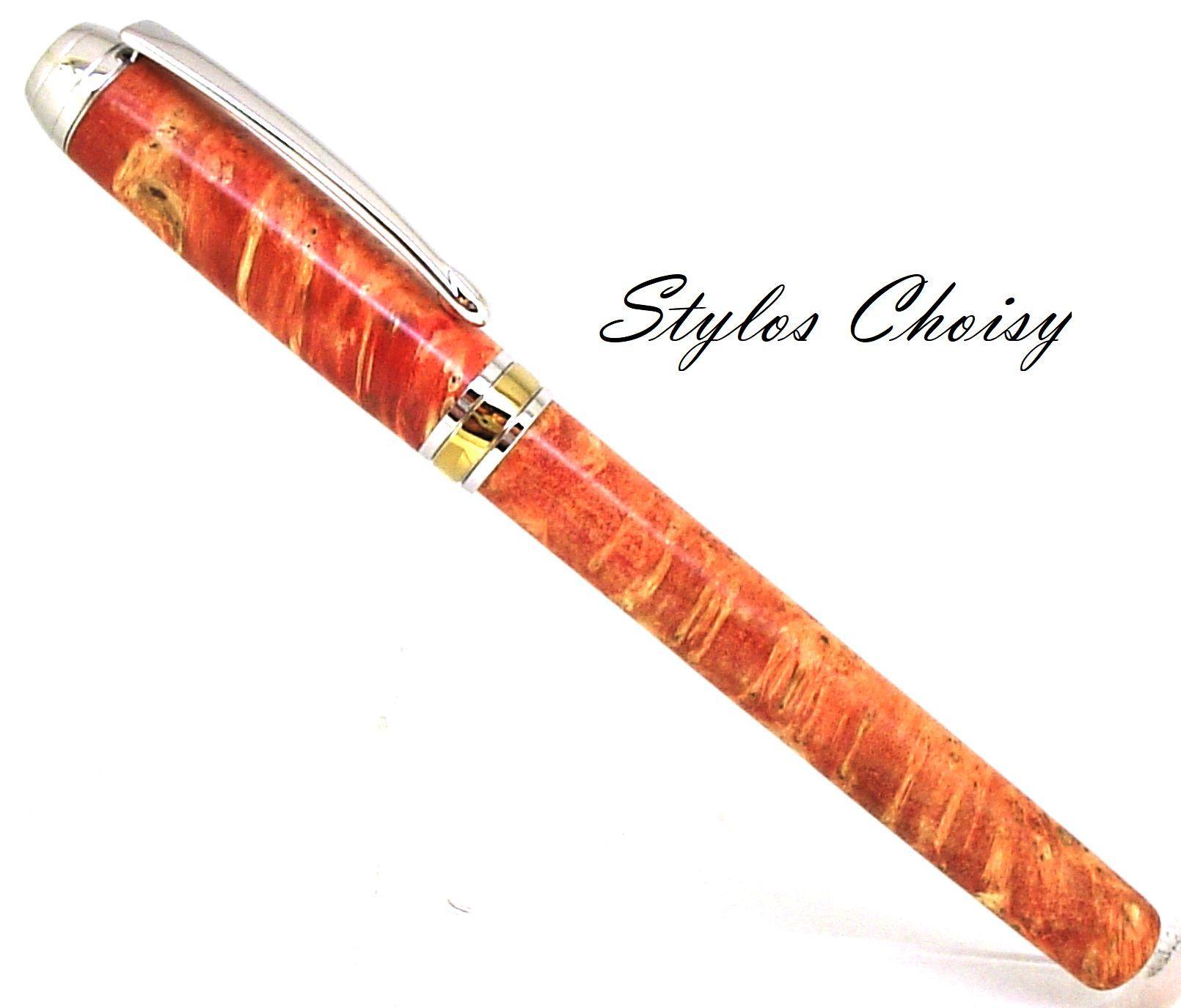 Roller serenite loupe d erable negundo stab orange platine et titanium