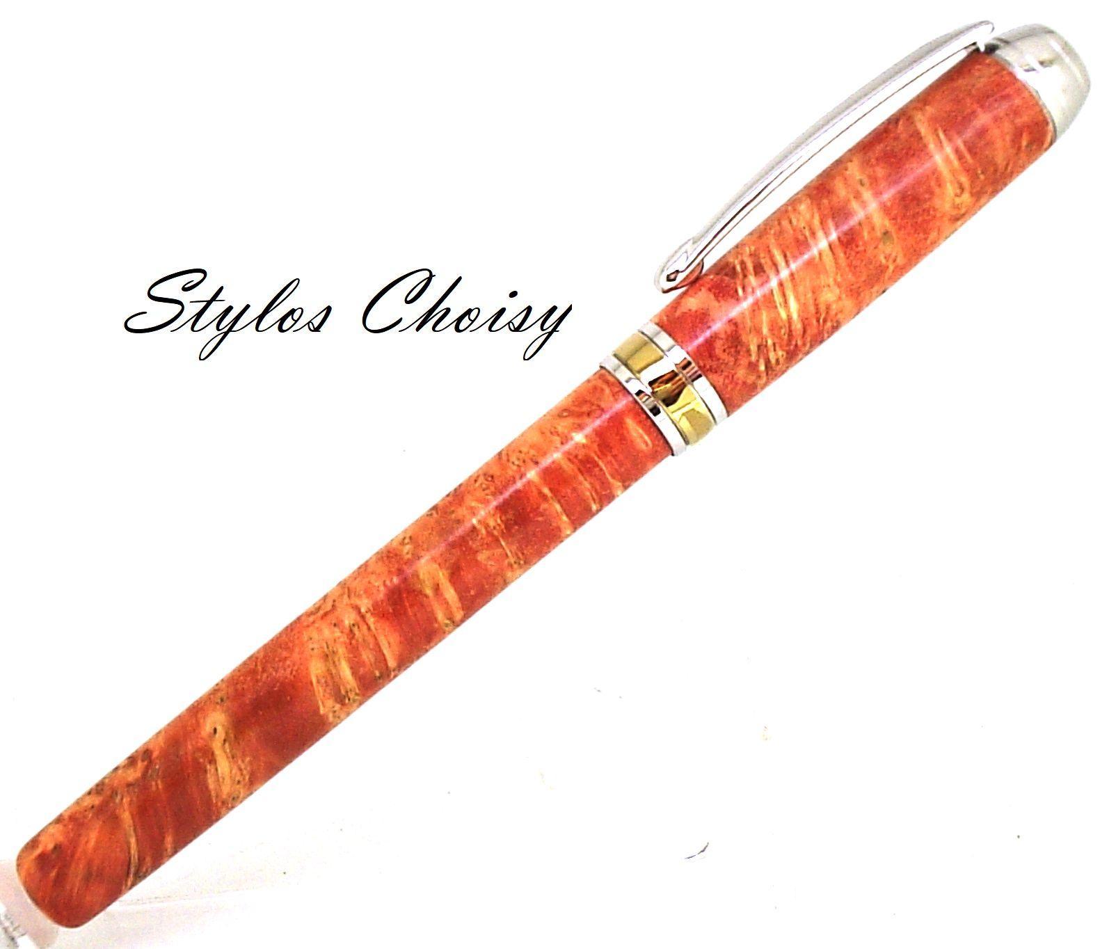 Roller serenite loupe d erable negundo stab orange platine et titanium2