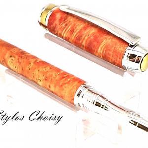 Roller serenite loupe d erable negundo stab orange platine et titanium3