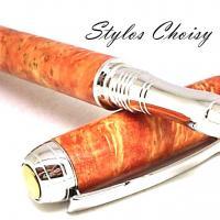 Roller serenite loupe d erable negundo stab orange platine et titanium5