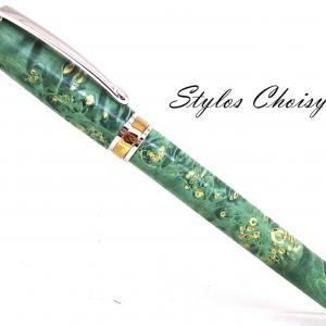 Roller serenite loupe d erable negundo stab verte platine et titanium 1