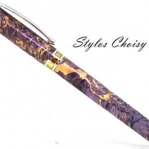 Roller serenite loupe d erable negundo stab violette platine et titanium 1