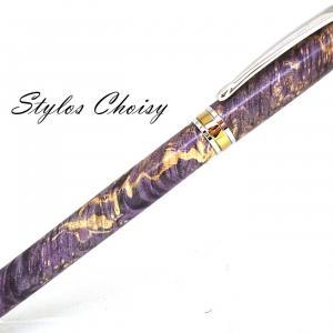 Roller serenite loupe d erable negundo stab violette platine et titanium 2