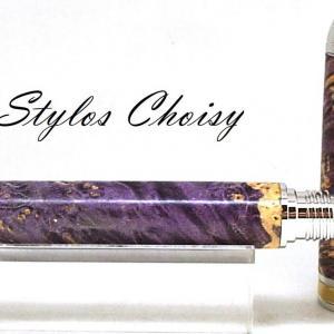 Roller serenite loupe d erable negundo stab violette platine et titanium 4