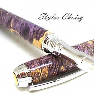 Roller serenite loupe d erable negundo stab violette platine et titanium 5