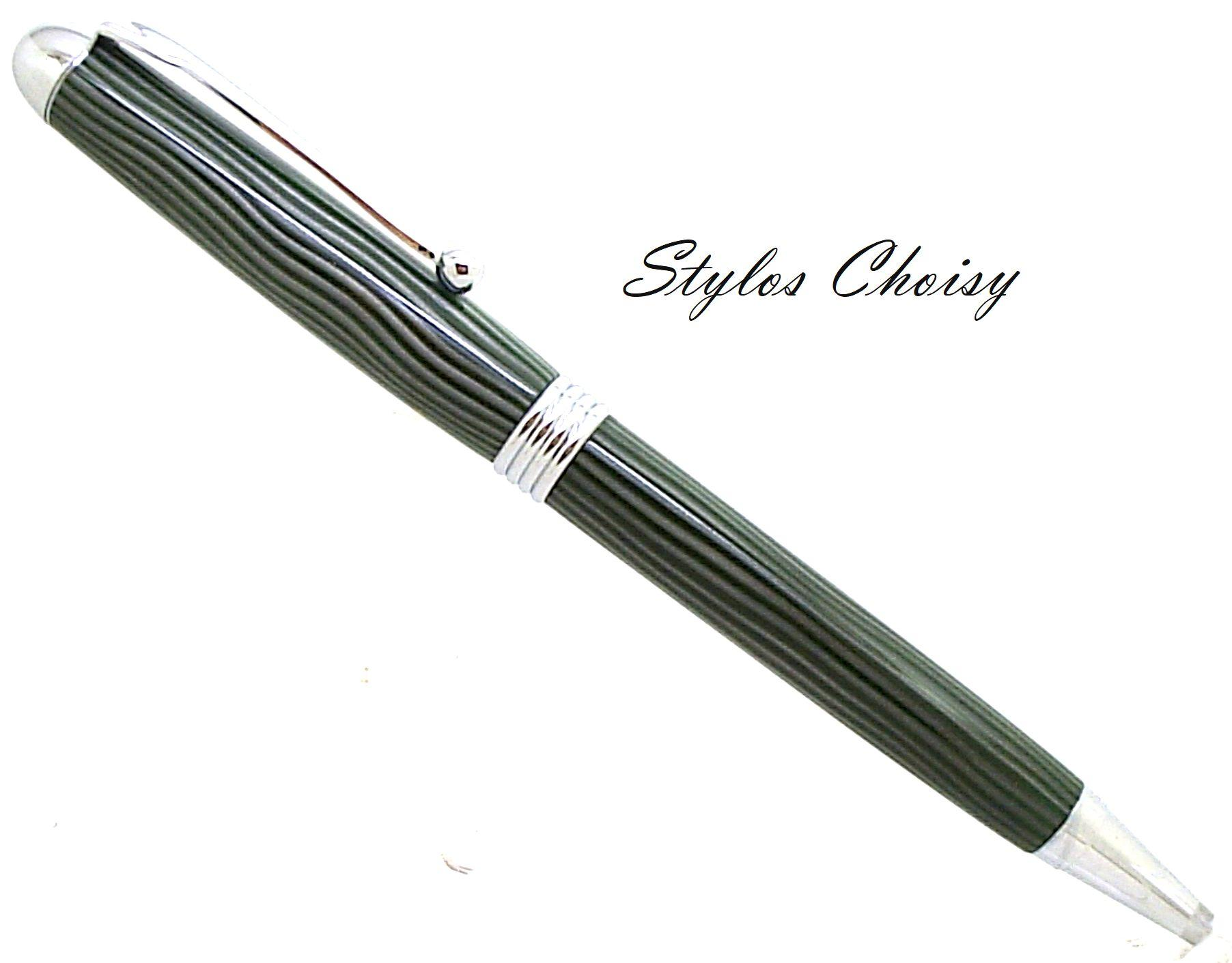 Sagesse galalithe verte zebree blanc et chrome 1