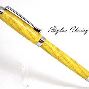 Tentation en erable sycomore ecostabilise jaune et chrome 1