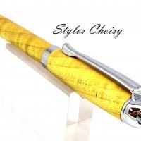 Tentation en erable sycomore ecostabilise jaune et chrome 3