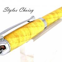 Tentation en erable sycomore ecostabilise jaune et chrome 4