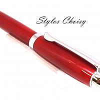 Tentation galalithe rouge brun et chrome 3